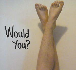 body hair shaving legs with